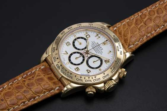 ROLEX, YELLOW GOLD DAYTONA INVERTED 6 WITH ZENITH MOVEMENT, REF. 16518 - photo 1