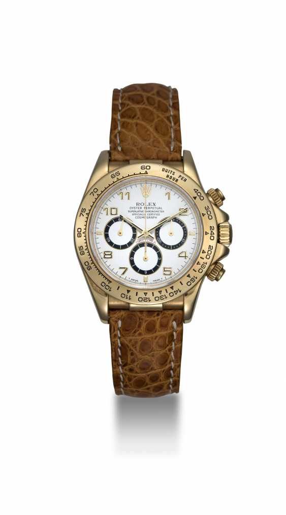 ROLEX, YELLOW GOLD DAYTONA INVERTED 6 WITH ZENITH MOVEMENT, REF. 16518 - photo 3