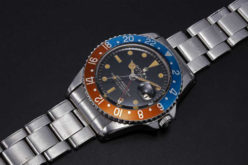 ROLEX, A RARE STEEL OYSTER PERPETUAL GMT-MASTER MADE FOR THE PERUVIAN AIR FORCE, REF. 1675 - photo 1
