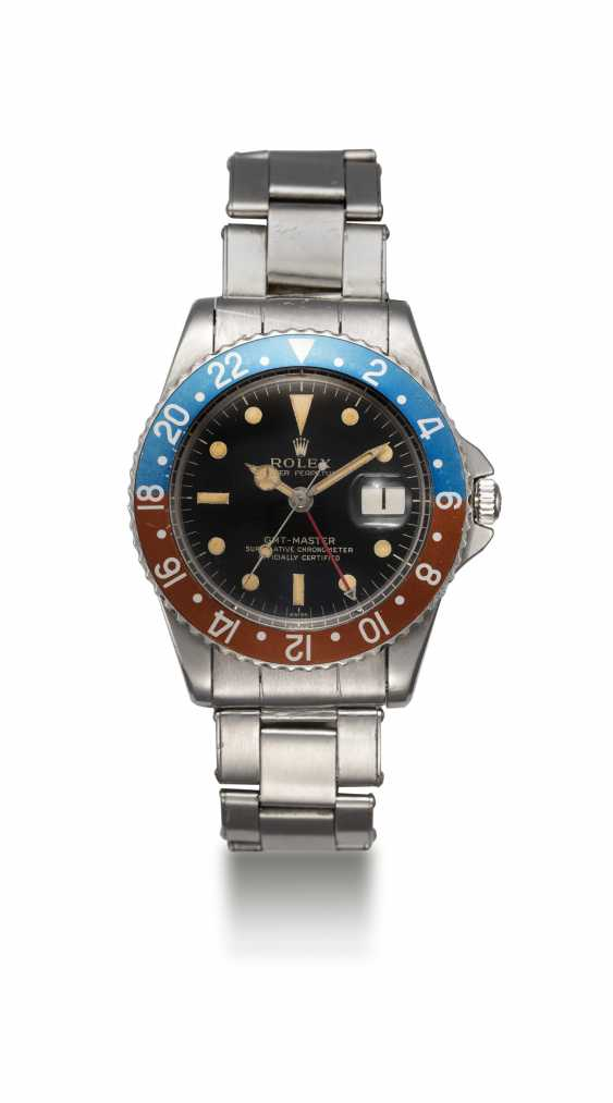 ROLEX, A RARE STEEL OYSTER PERPETUAL GMT-MASTER MADE FOR THE PERUVIAN AIR FORCE, REF. 1675 - photo 3
