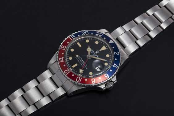 ROLEX, A STEEL OYSTER PERPETUAL GMT-MASTER, REF. 1675  - photo 1