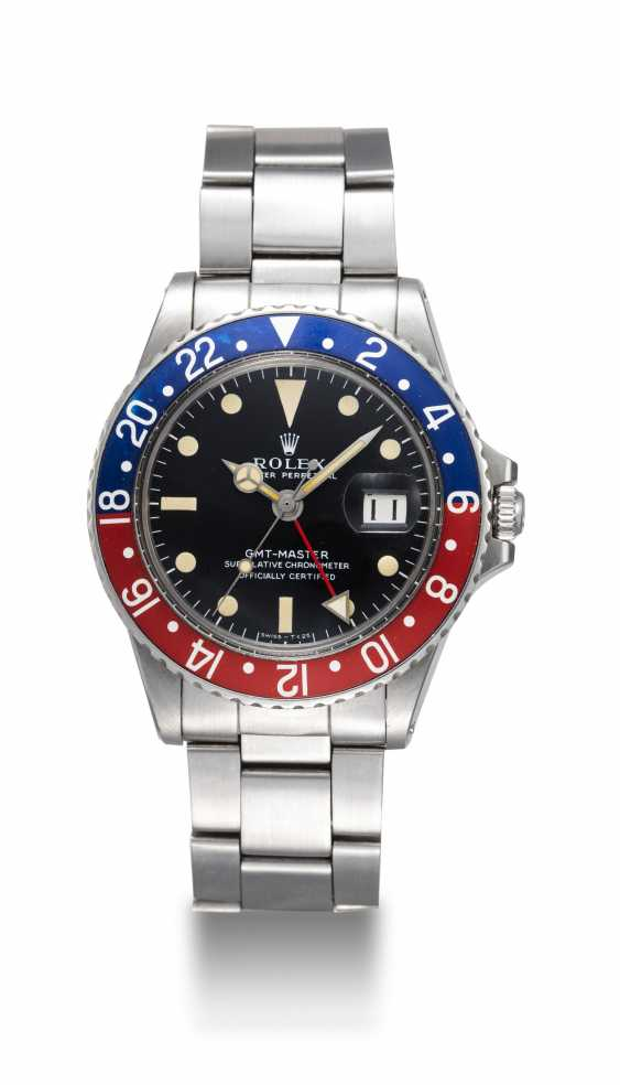 ROLEX, A STEEL OYSTER PERPETUAL GMT-MASTER, REF. 1675  - photo 3