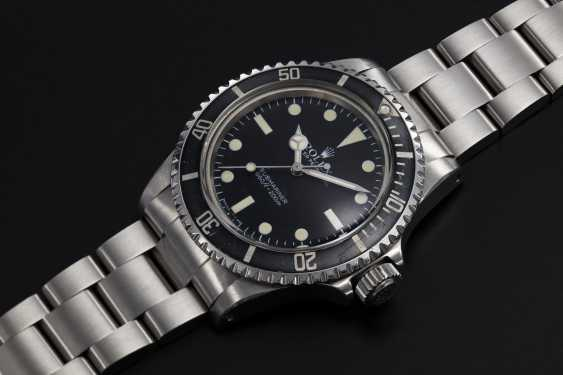 ROLEX. A STEEL SUBMARINER WITH MAXI DIAL, REF. 5513 - photo 1