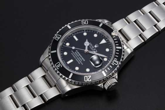 ROLEX, A STAINLESS STEEL OYSTER PERPETUAL ROLEX SUBMARINER, REF. 16610 - photo 1