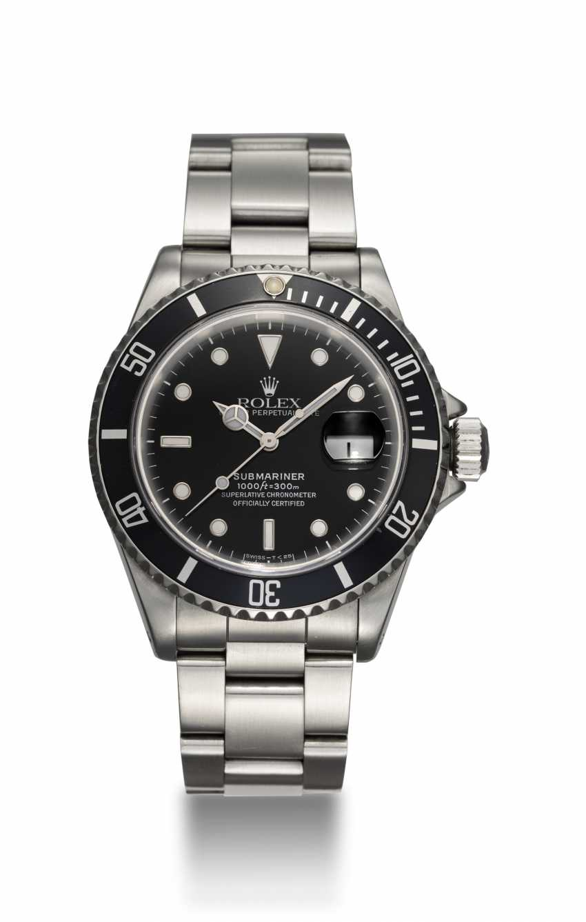 ROLEX, A STAINLESS STEEL OYSTER PERPETUAL ROLEX SUBMARINER, REF. 16610 - photo 3