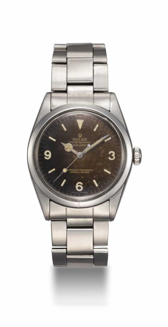 ROLEX, A STEEL OYSTER PERPETUAL EXPLORER, REF. 1016 - photo 3
