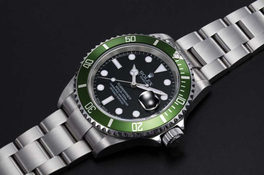 """ROLEX, A STAINLESS STEEL OYSTER PERPETUAL SUBMARINER """"FLAT FOUR"""", REF. 16610LV - photo 1"""