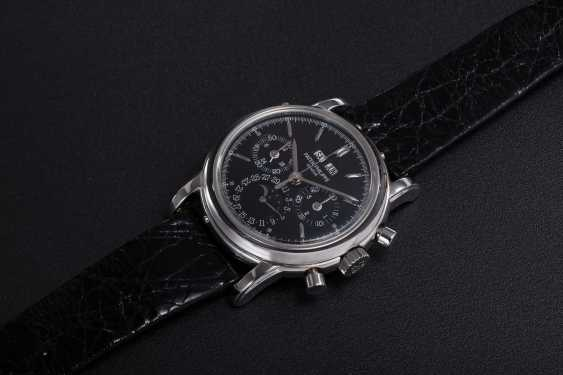 PATEK PHILIPPE, REF. 3970EP, A PLATINUM PERPETUAL CALENDAR CHRONOGRAPH WRISTWATCH - photo 1