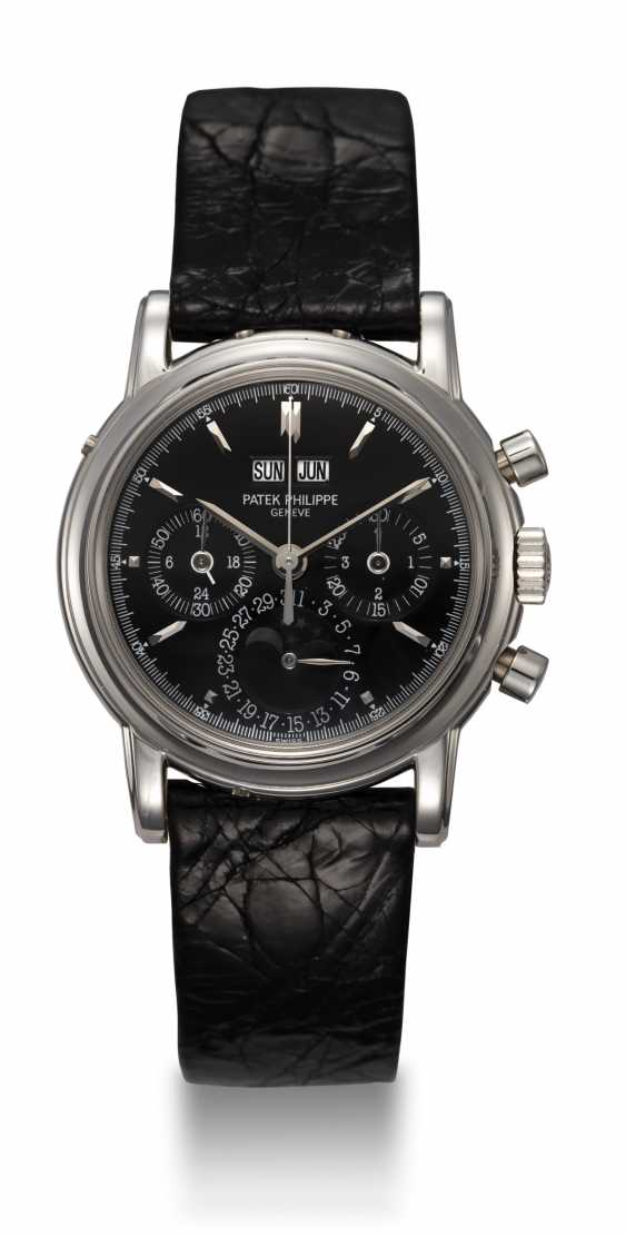 PATEK PHILIPPE, REF. 3970EP, A PLATINUM PERPETUAL CALENDAR CHRONOGRAPH WRISTWATCH - photo 3