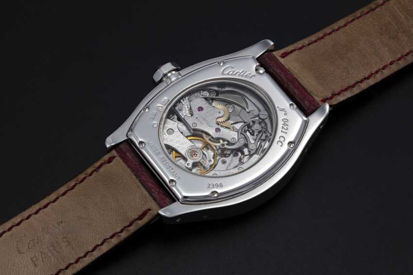 CARTIER, A WHITE GOLD TORTUE MONOPUSHER CHRONOGRAPH, REF. 2396 - photo 2