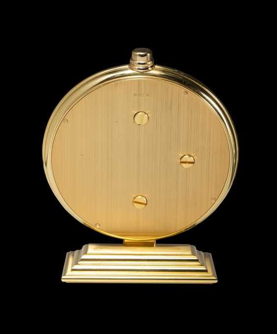 AUDEMARS PIGUET, A GILT BRASS PERPETUAL CALENDAR 2100 DESK CLOCK - photo 2