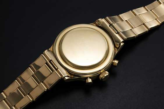 ROLEX, AN EXTREMELY RARE GOLD OYSTER CHRONOGRAPH ANTIMAGNETIQUE WRISTWATCH WITH BRACELET, REF. 3525  - photo 2