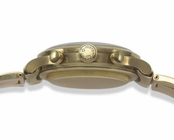 ROLEX, AN EXTREMELY RARE GOLD OYSTER CHRONOGRAPH ANTIMAGNETIQUE WRISTWATCH WITH BRACELET, REF. 3525  - photo 5