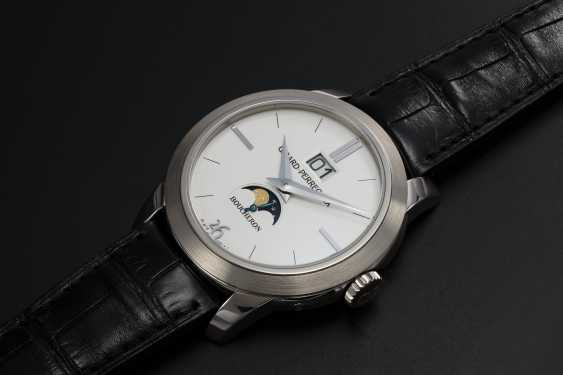 GIRARD-PERREGAUX, A LIMITED EDITION WHITE GOLD MOON-PHASE AUTOMATIC WRISTWATCH MADE FOR BOUCHERON - photo 1