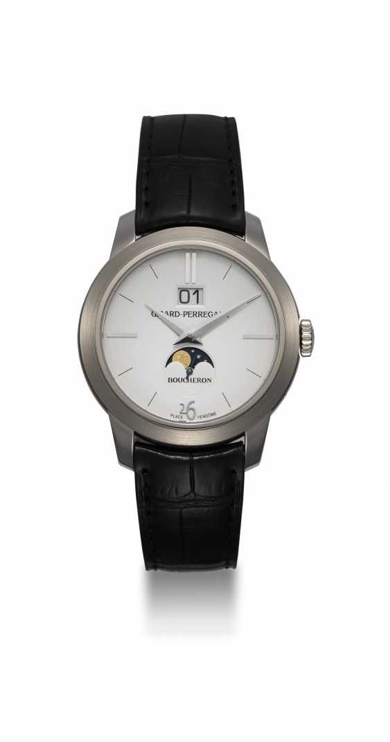 GIRARD-PERREGAUX, A LIMITED EDITION WHITE GOLD MOON-PHASE AUTOMATIC WRISTWATCH MADE FOR BOUCHERON - photo 3
