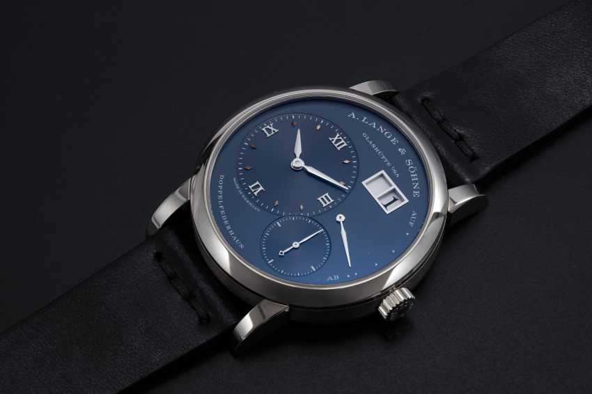A. LANGE & SÖHNE, WHITE GOLD LANGE 1 WITH BLUE DIAL, REF. 191.028  - photo 1