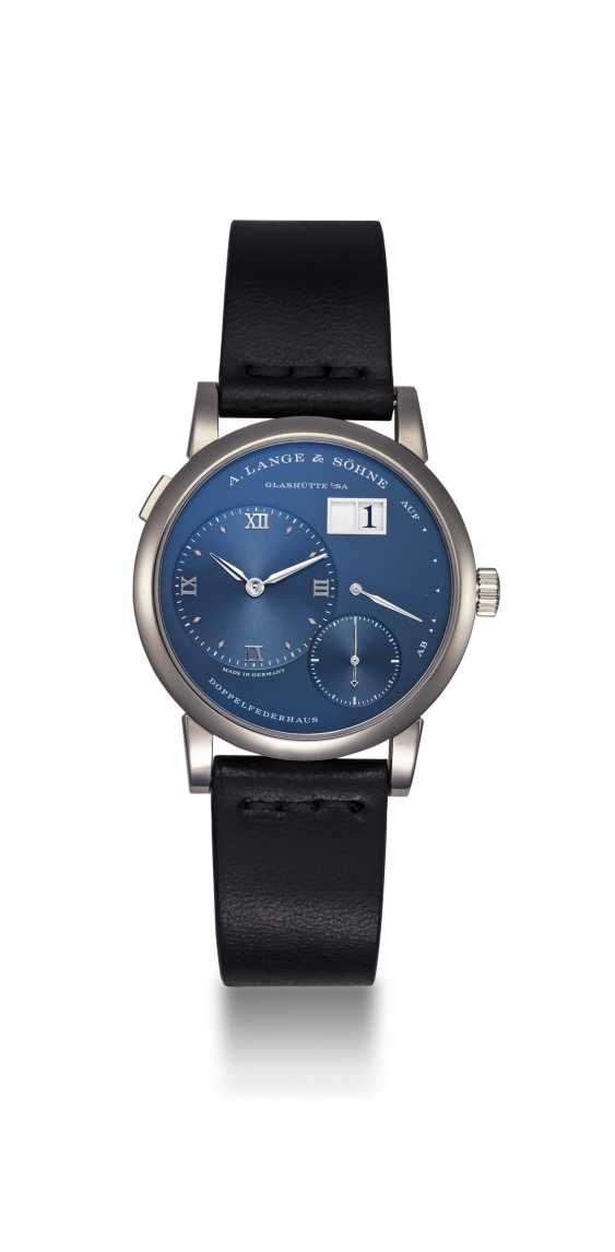 A. LANGE & SÖHNE, WHITE GOLD LANGE 1 WITH BLUE DIAL, REF. 191.028  - photo 3