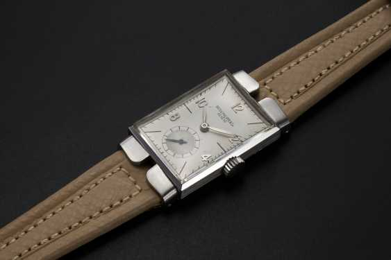 PATEK PHILIPPE, REF. 1544, A STAINLESS STEEL WRISTWATCH WITH TWO PIECE HOODED LUGS - photo 1