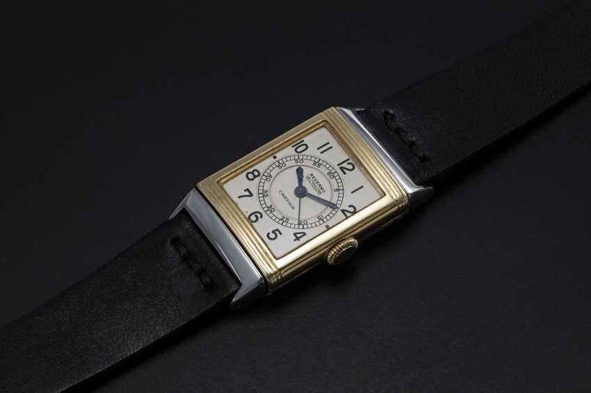 LECOULTRE, A TWO TONE REVERSO RETAILED BY CARTIER - photo 1