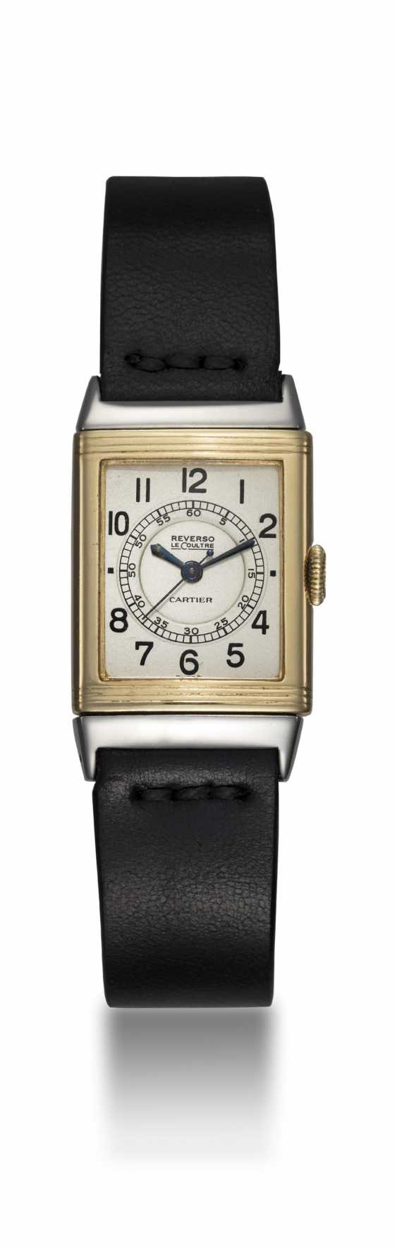LECOULTRE, A TWO TONE REVERSO RETAILED BY CARTIER - photo 3