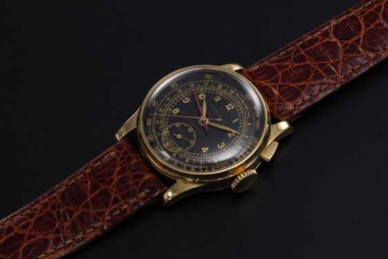 LONGINES, A RARE GOLD MONOPUSHER STOP SECONDS CHRONOGRAPH WITH FLYBACK FUNCTION, REF. 4631 - photo 1