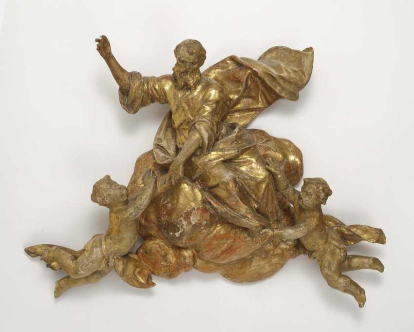 God the Father with angels, Johann Baptist Straub (1704 Wiesensteig - 1784 Munich), circle, around 1760/70 - photo 1