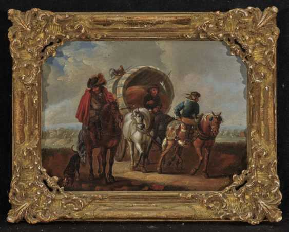 Austria 18th century, Princely Passenger Train - farmers with covered wagons - photo 3