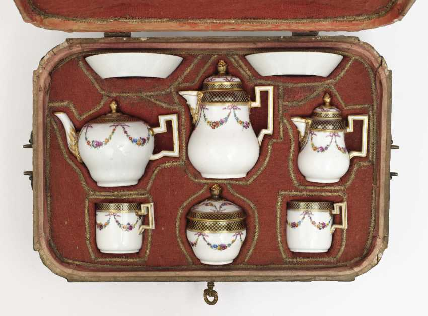 Travel service, eight parts, Meissen, Marcolini, painting attributed to Johanna Friedericka Bachmann - photo 1
