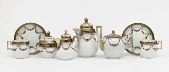 Travel service, eight parts, Meissen, Marcolini, painting attributed to Johanna Friedericka Bachmann - photo 3