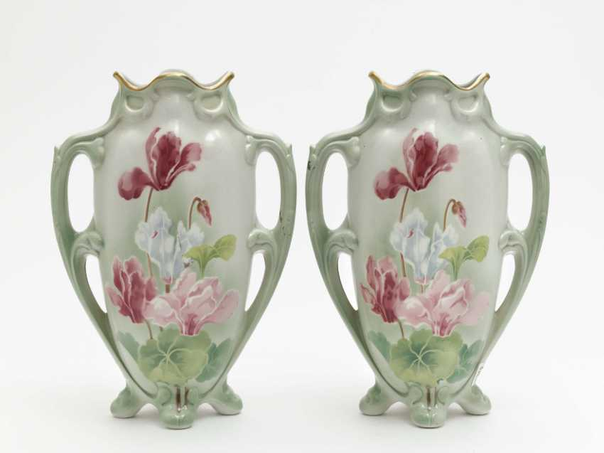 A pair of amphora vases, Keller & Guerin, Lunéville, around 1880 - photo 1