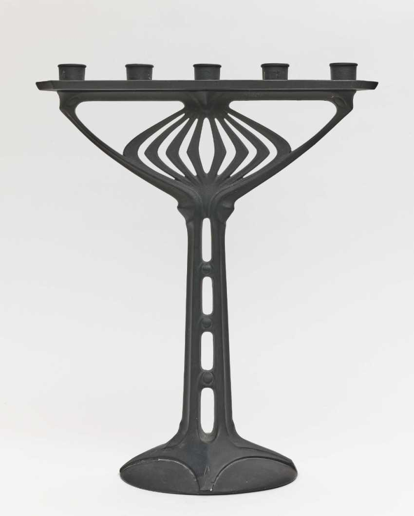 Candlestick, Albin Müller, 1904 executed by Fürstlich Stolberg'sches Hüttenamt, Ilsenburg - photo 1