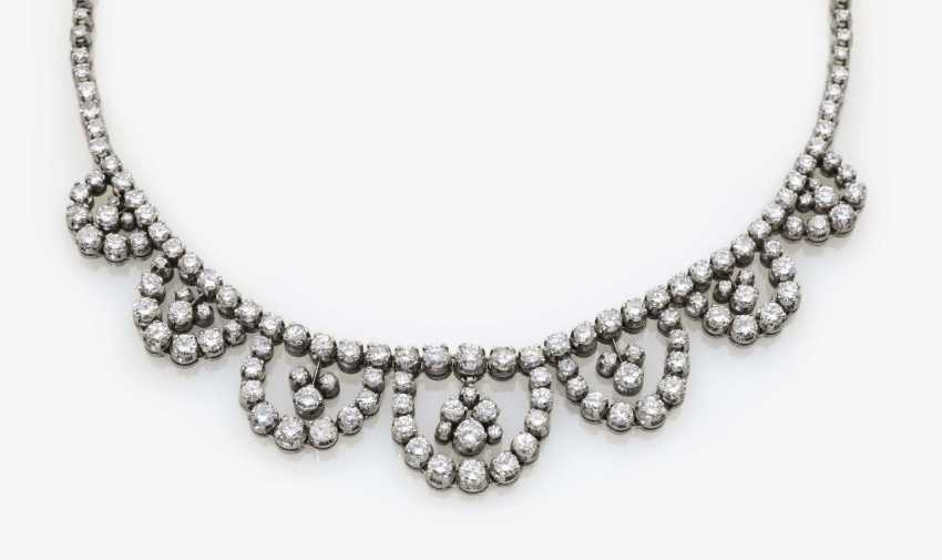 Cocktail necklace with diamonds, USA, 1960s - photo 2