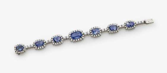 Cocktail bracelet with sapphires and diamonds, France, 1970s - photo 1