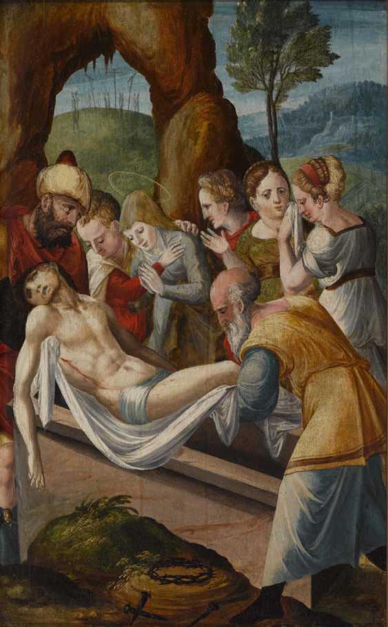 Flemish 1st half of the 16th century, Entombment of Christ - photo 1