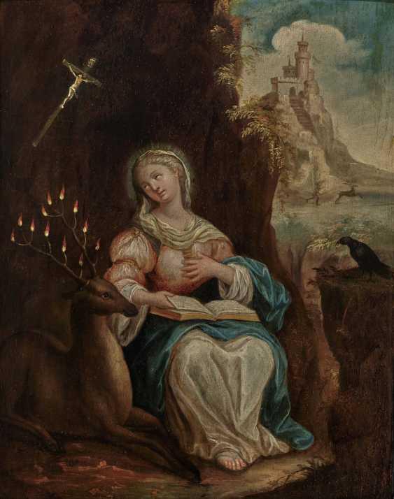Switzerland (?) 18th century, Ida von Toggenburg with raven and deer - photo 1