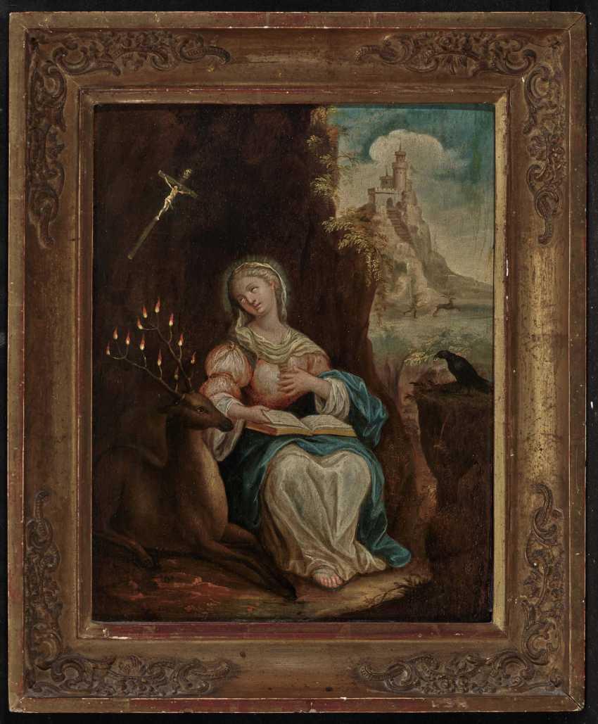 Switzerland (?) 18th century, Ida von Toggenburg with raven and deer - photo 2