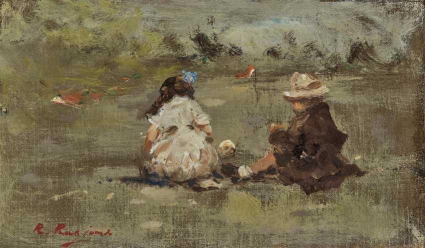 Raffaele Ragione, Two children in the park (Parc Monceau?). - photo 1