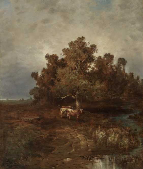 Désiré Thomassin, cows by the water - photo 1