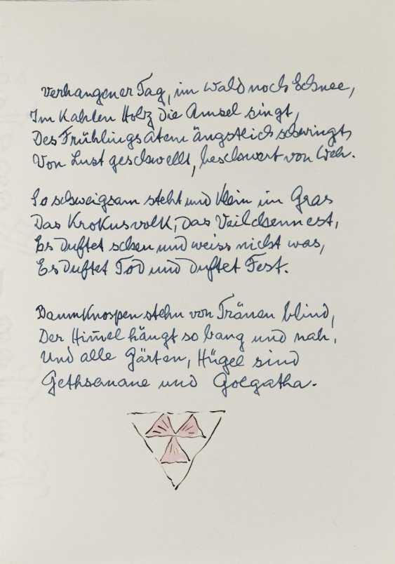 Hermann Hesse, Twelve Poems by Hermann Hesse. 1961 - photo 21