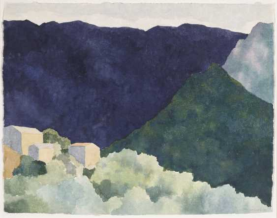 Reiner Wagner, houses in a mountain landscape. 1999 - photo 1