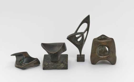 Seff Weidl, mixed lot of 8 parts. 6 bronze reliefs or bronze sculptures and two drawings. 5 reliefs resp. - photo 1
