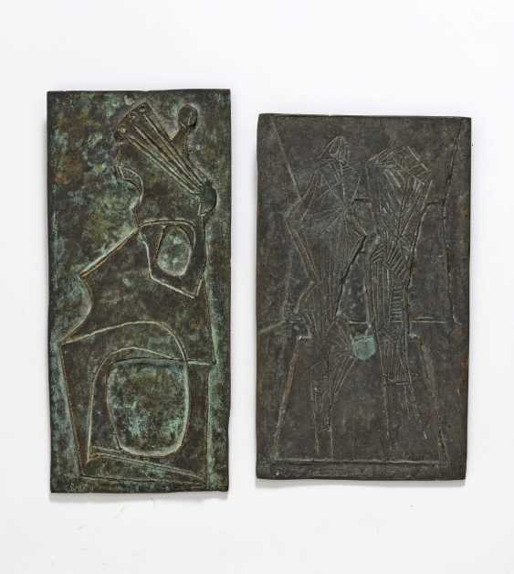 Seff Weidl, mixed lot of 8 parts. 6 bronze reliefs or bronze sculptures and two drawings. 5 reliefs resp. - photo 2