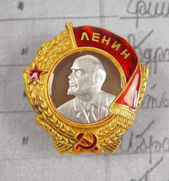 Soviet Union: Order of Lenin, 3rd model, 2nd type - shift supervisor of the coal production in Karaganda. - photo 1