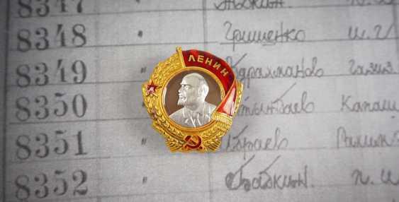 Soviet Union: Order of Lenin, 3rd model, 2nd type - shift supervisor of the coal production in Karaganda. - photo 2