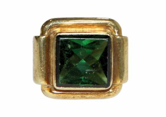 Tourmaline ring 585 - photo 1