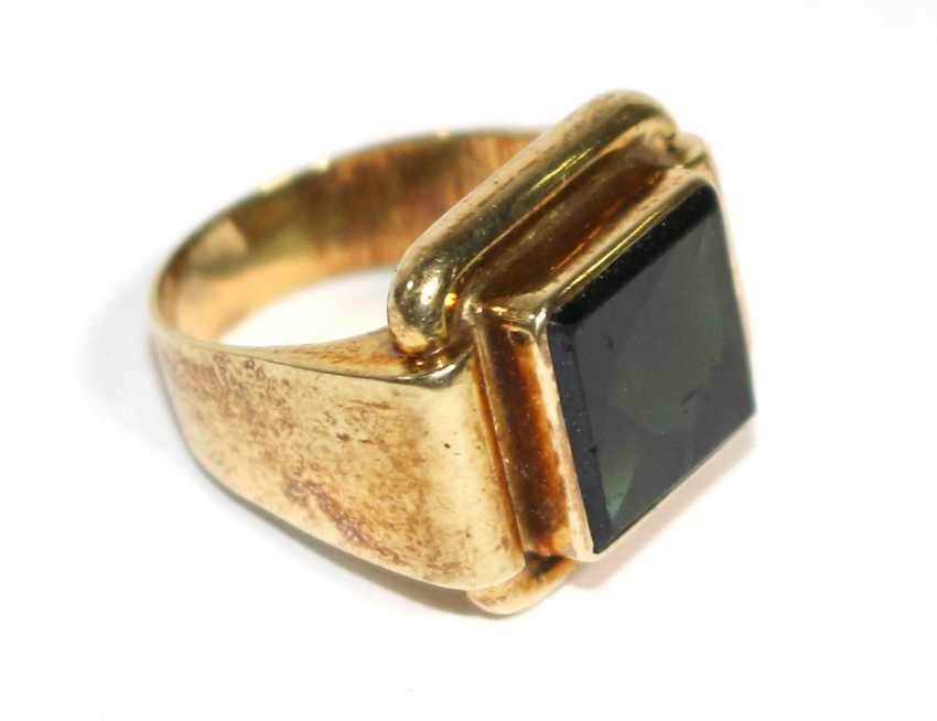 Tourmaline ring 585 - photo 2