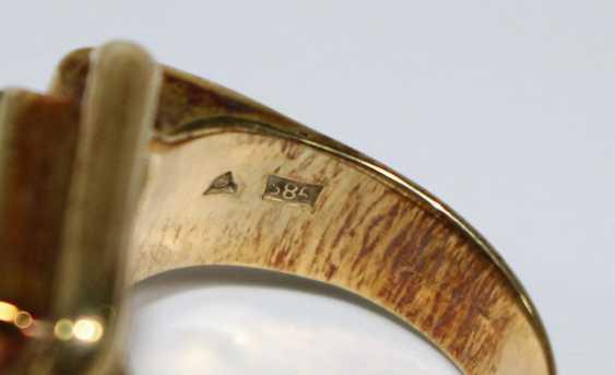 Tourmaline ring 585 - photo 3