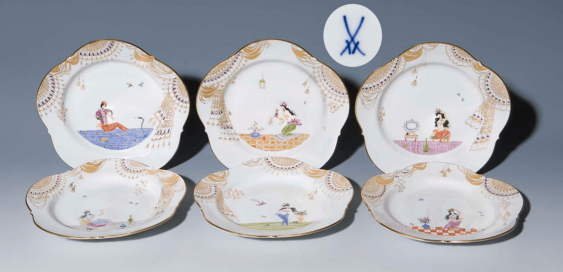 Set of 6 1001 night-dessert plate - photo 1
