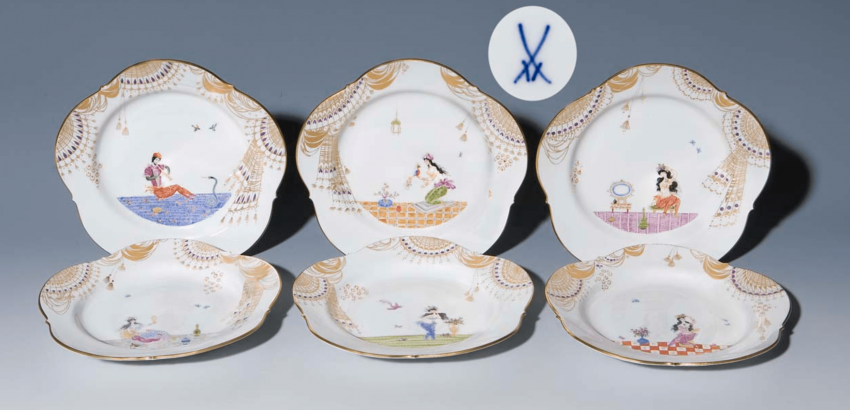 Set of 6 1001 night-dessert plate