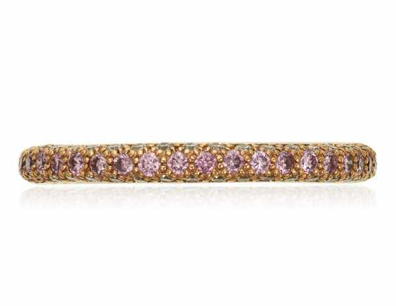 TIFFANY & CO. COLORED DIAMOND AND DIAMOND 'ETOILE' ETERNITY BAND - photo 1